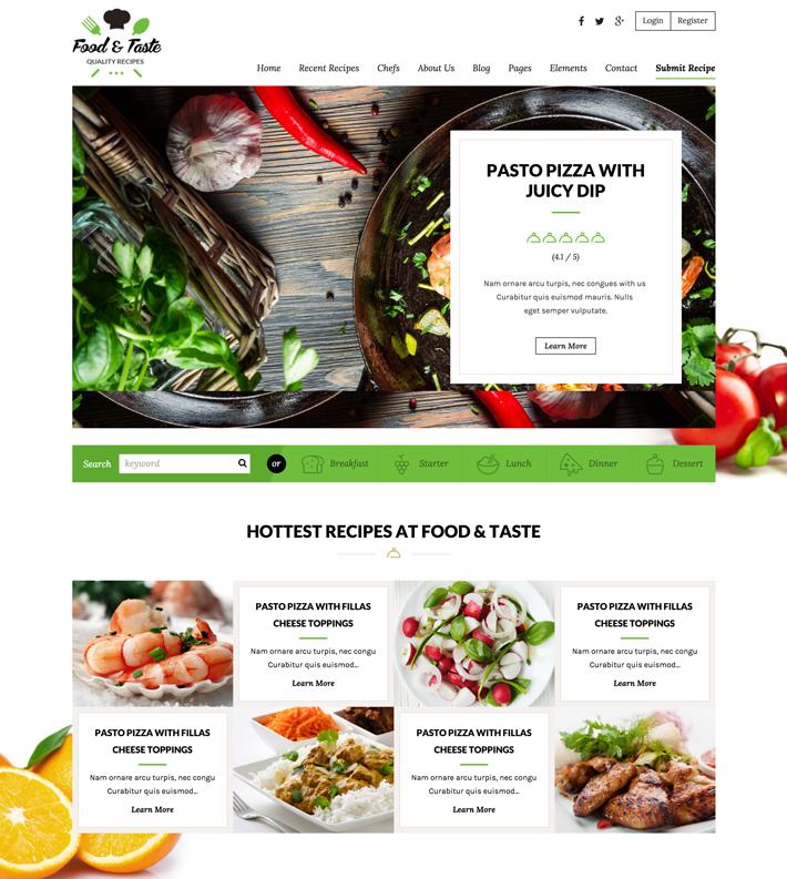עיצוב בלוג אוכל