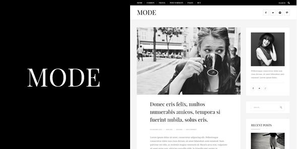 Mode תבנית עיצוב לבלוג אופנה